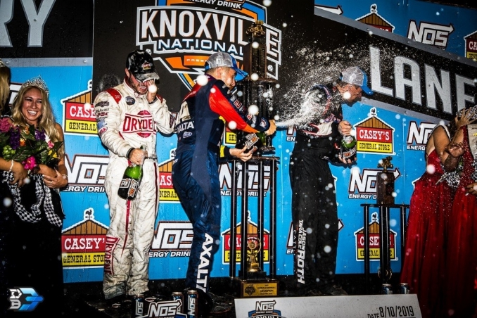 The World of Outlaws wins the race back to the track
