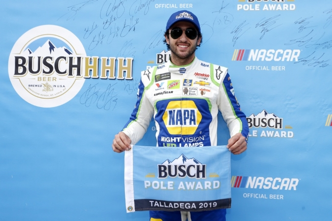Chase Elliott leads clean sweep for Hendrick in qualifying at Talladega