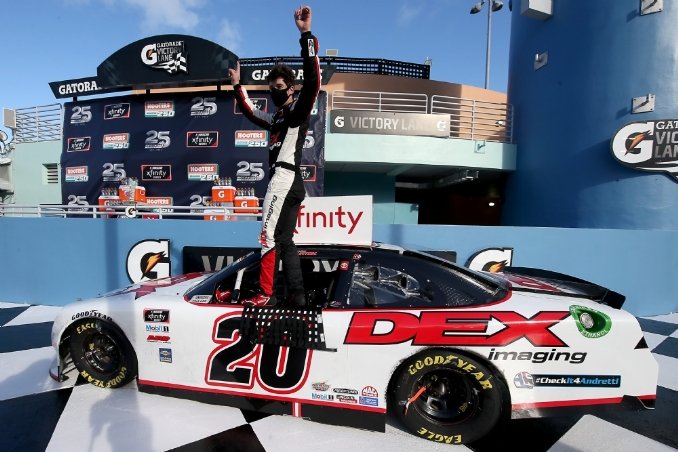 Highway robbery: Harrison Burton pilfers win at Homestead
