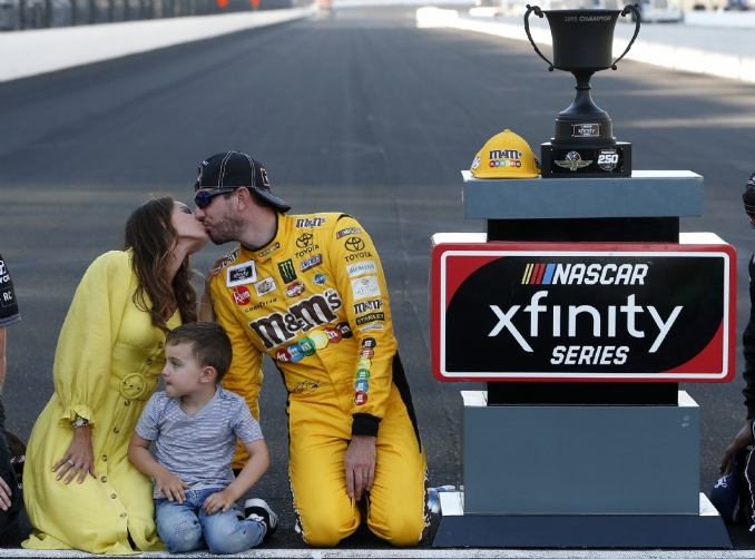 Kyle Busch closes out Xfinity season with fourth Brickyard win