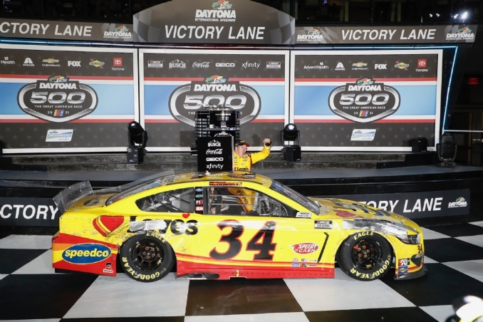 With no regrets, McDowell savors victory in NASCAR's biggest race