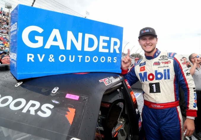 Todd Gilliland scores first-career win and grandfather clock at Martinsville