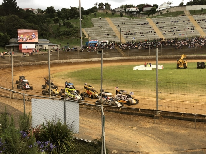 After opening night wreck, Christopher Bell abandons New Zealand midget racing run